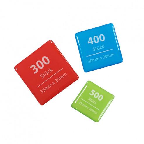 3D-Aufkleber Sparpaket quadratisch