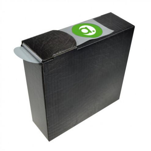 Günstige Etiketten in Spenderbox - weiße Grundfolie