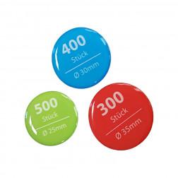 3D-Aufkleber Sparpaket rund