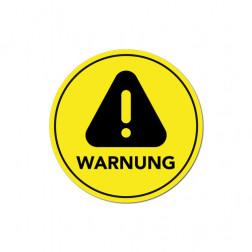 Aufkleber Warnhinweis