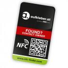 individueller NFC-Finder Sticker inkl. NFC-Chip, QR-Code und Fundsystem