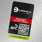individueller NFC-Finder Sticker für Metalloberflächen