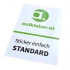 Aufkleber, Sticker, Etiketten ohne Laminat