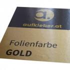 Folienfarbe Gold - Aufkleber mit Laminat