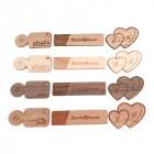 Holz Buttons in verschiedenen Holzarten und Zuschnitten