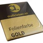 Folienfarbe gold - Premium Domingaufkleber