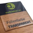Folienfarbe transparent - Premium Domingaufkleber