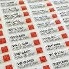 NFC-3D-Sticker Kundenbeispiel Weyland