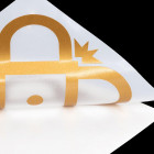 Schriftzugaufkleber gold