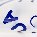 Schriftzugaufkleber königsblau