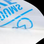 Schriftzugaufkleber lichtblau
