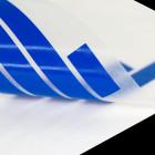 Schriftzugaufkleber meeresblau