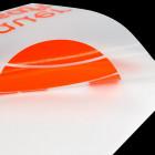 Schriftzugaufkleber orange