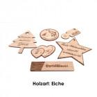 Schilder aus Eichenholz graviert