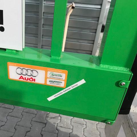 Produktkennzeichnung mit Aufklebern
