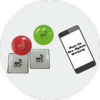 Digitale DOMING / NFC 3D-AUFKLEBER
